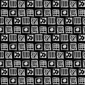 Chalk sketching Inking blocks of daydreaming fun