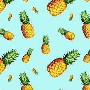 Pineapple Light Blue - Small Print