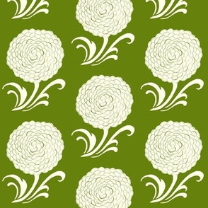 Stylized Floral with green
