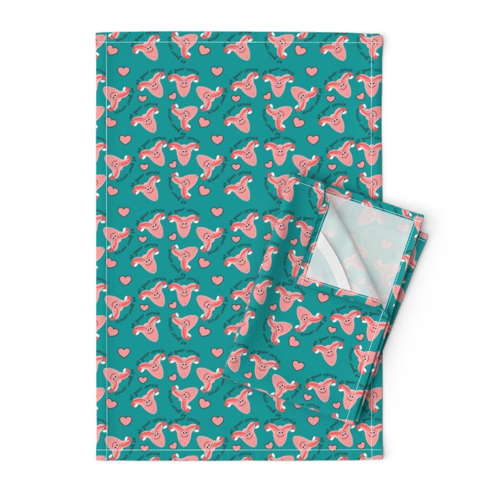 Orpington Tea Towels featuring OB Nurse Cervix by hot4tees_bg@yahoo_com