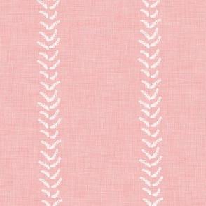 Blush linen stripe pink linen white stripe