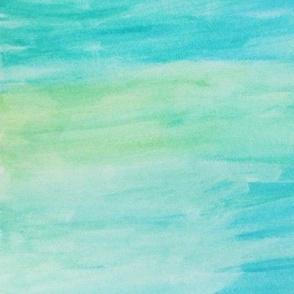 Watercolor wash:greens