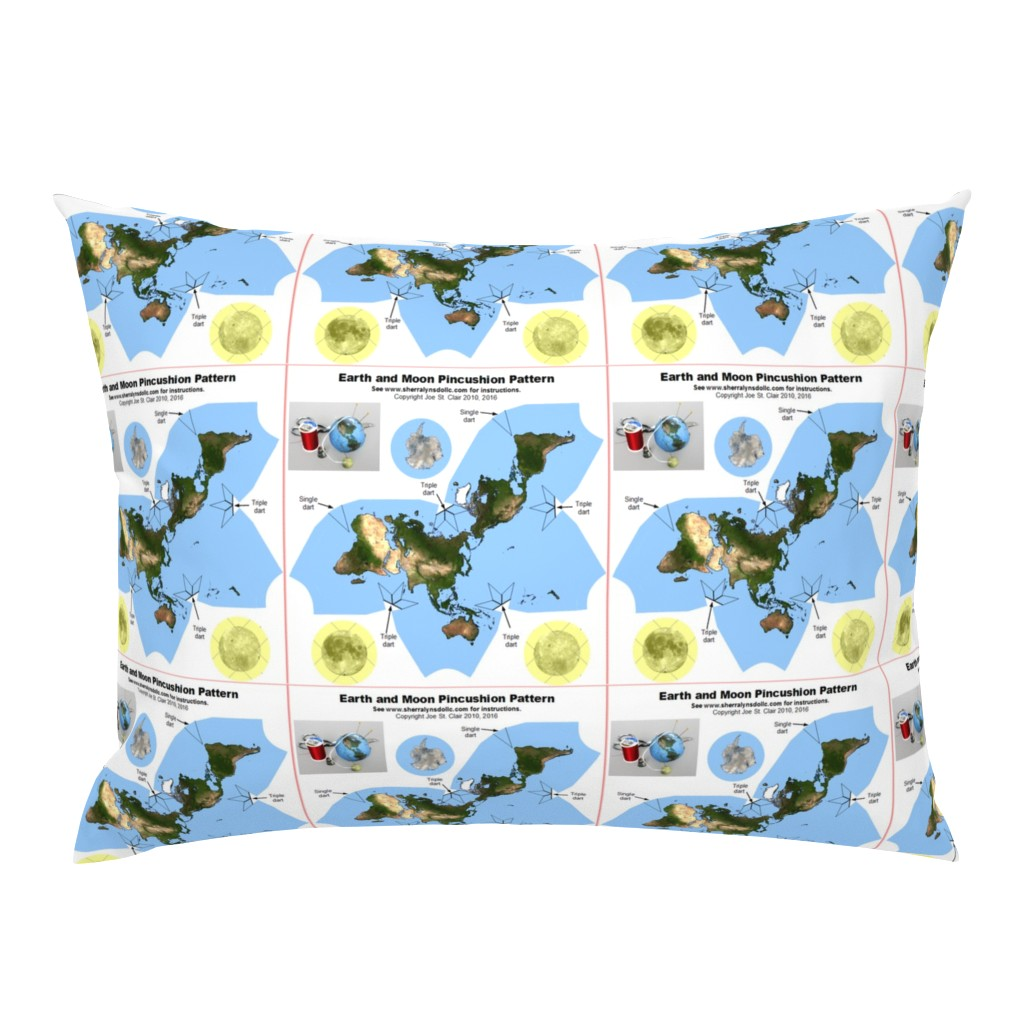 Campine Pillow Sham featuring Earth and Moon Pincushion by sherralynsdolls