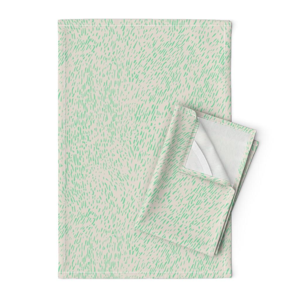 Orpington Tea Towels featuring Bark - mint/clay by cinneworthington