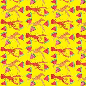 Crawfish and Watermelon