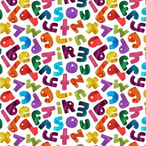 Painterly ABCs- rainbow
