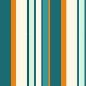 faux Basque stripe teal 1