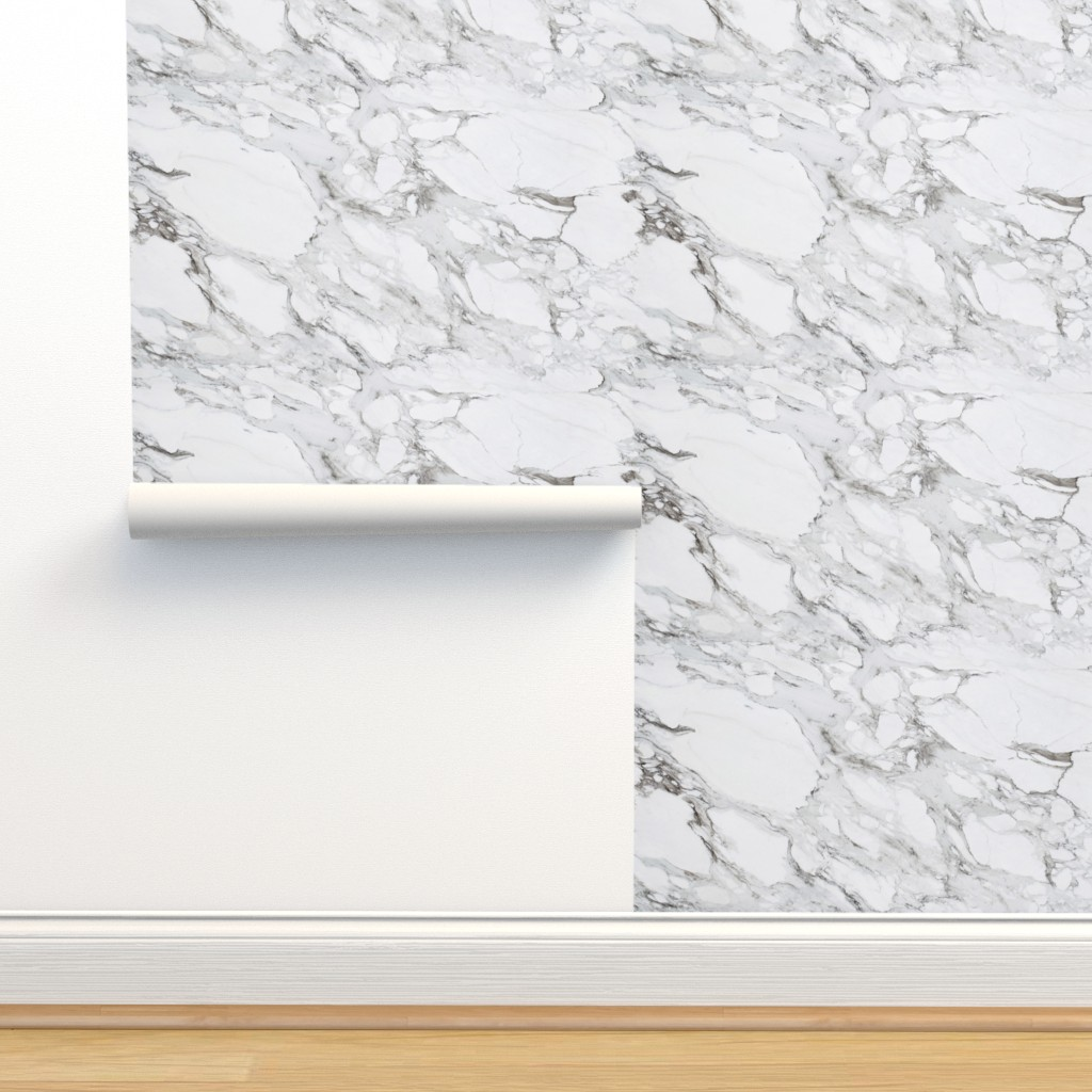 Isobar Durable Wallpaper featuring Carrera Marble by willowlanetextiles