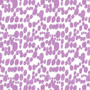 polka dots lilac spots
