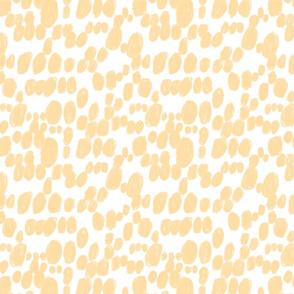 polka dot tangerine white brush stroke spots