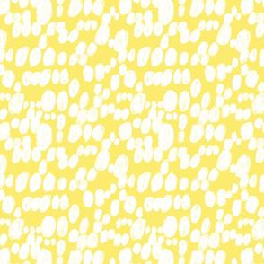 white spots polka dot in yellow