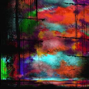 grunged rainbow