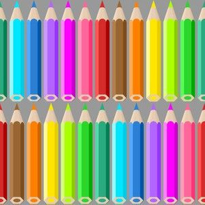 05190896 : coloured pencil rows