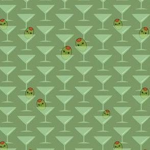 Kawaii Olives in Martini Glasses