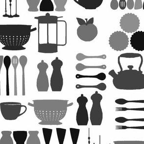 Kitchen stuff black & white
