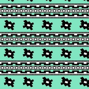 Aztec >> Tribal Mod Geometric Trendy Baby Kids >> Turquoise,Grey, and White