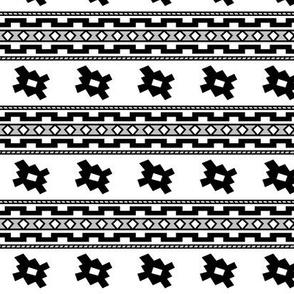 Aztec >> Tribal Mod Geometric Trendy Baby Kids >> Black, Grey, and White