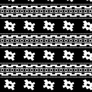Aztec >> Tribal Mod Geometric Trendy Baby Kids >> Black and White