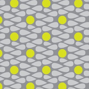 15-01C Scandinavian Abstract || Grey Gray Yellow Green Apple Lime Drops Spots _Miss Chiff Designs