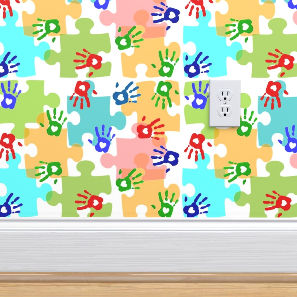 Autism Puzzle Pieces Hands On Isobar By Hot4tees Bg Yahoo Com Roostery Home Decor