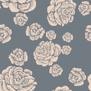 just roses - pale putty/cement