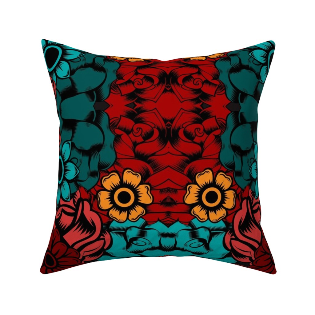 Catalan Throw Pillow featuring Ma Frida by sewingpatternbee