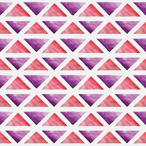 Purple and Red Watercolor Triangles