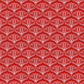 fan outline red
