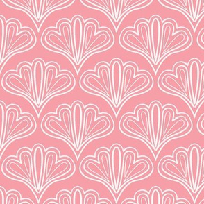 fan outline pink