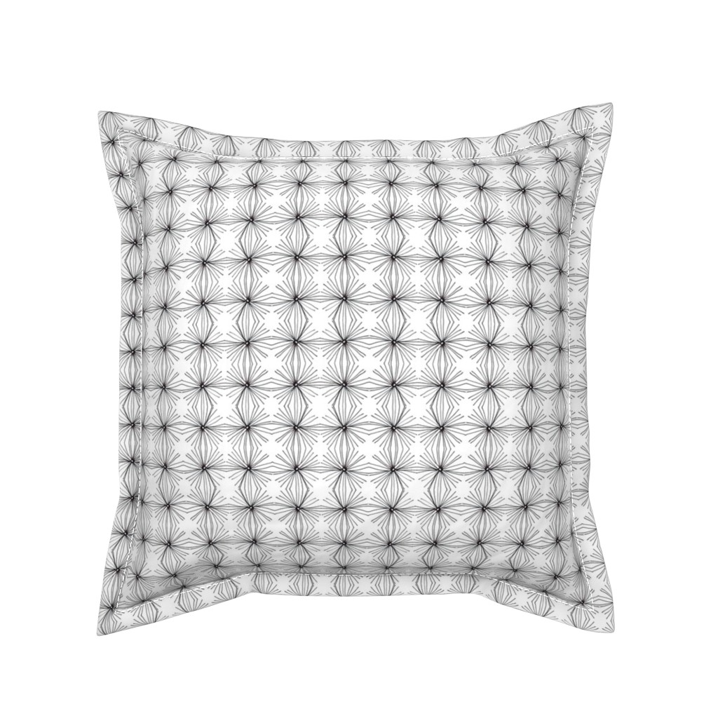Serama Throw Pillow featuring Smocking by unclemamma