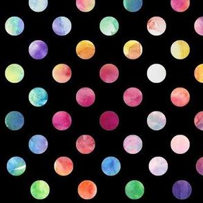 Watercolour Dots (black variant)