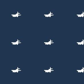 Vintage airplanes in navy