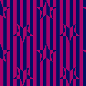 Stars and Stripes Fuchsia and Navy