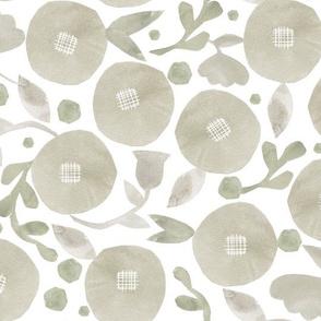 beige blooms-watercolor
