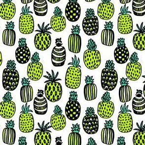 pineapples // bright yellow summer tropical fruit fruits summer