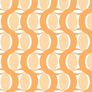 connecting circles peach