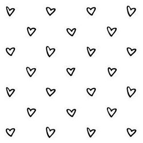Heart – black white
