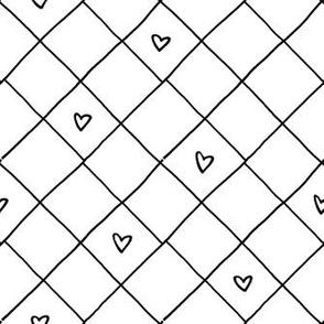 Heart Grid – black white