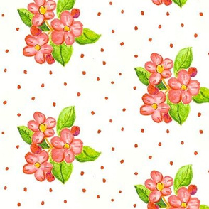 Apple Blossoms Watercolor