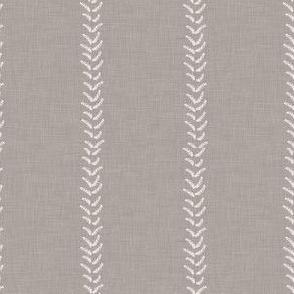 Gray Grey Beige Taupe Linen White Stripe