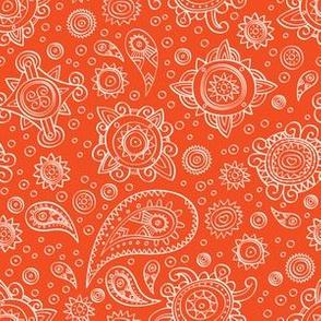 Orange oriental pattern