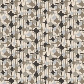 Neutral Abstract Diamond || Sky Blue Taupe Chocolate Brown Cream Beige Geometric Neutral_Miss Chiff Designs
