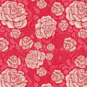 Rose Remix - putty/red/pink