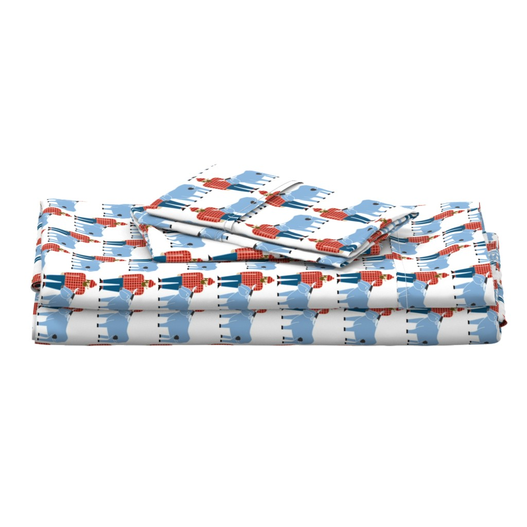 Langshan Full Bed Set featuring Paul Bunyan & Babe by cindylindgren