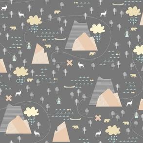 Mountain Adventure - Charcoal