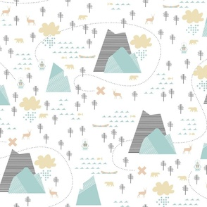 Mountain Adventure - White