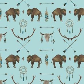 Blue Sky Buffalo Handpainted Western Motifs