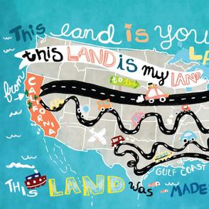 This Land Big Blanket - Minky