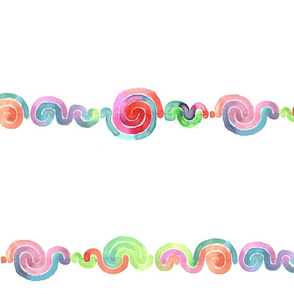 watercolor Spiral Stripe