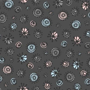 Atomic Dot (rose quartz and serenity)